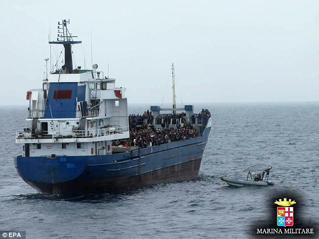 Italian authorities said they had rescued a total of 1,026 survivors during several missions by the country's navy in the Strait of Sicily in the last 24 hours