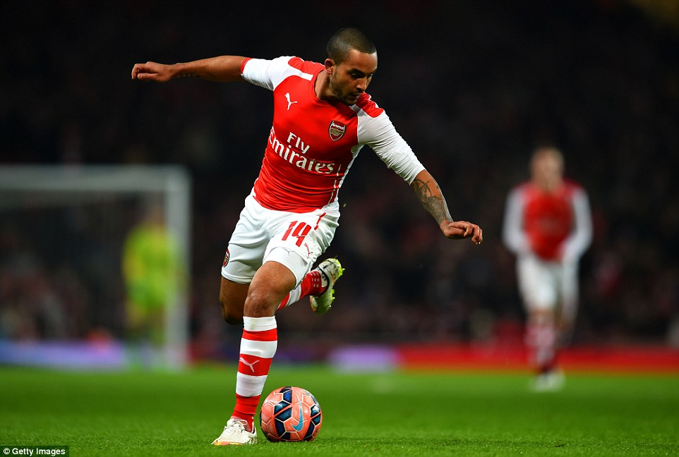 Arsenal forward Theo Walcott started his first game of the season after recovering from a long-term knee injury