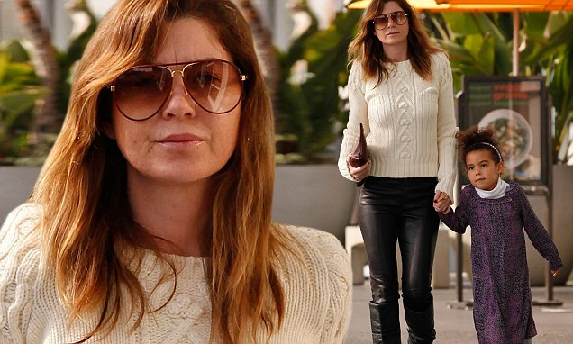 Ellen Pompeo Rocks Winter Chic As She Steps Out With