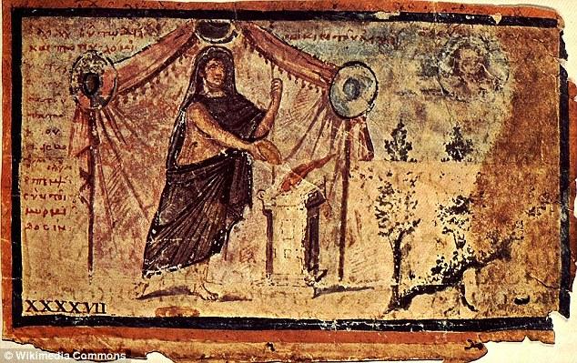 O imagine din secolul 5 ambrozian Iliada arată Ahile sacrifica pentru Zeus pentru întoarcerea în siguranță Patrocle