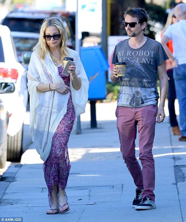 Kate Hudson And Matt Bellamy Wear Matching Purple Clothes