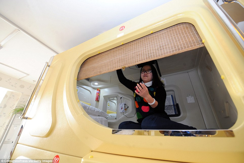 China's minute capsule hotels are gleaning popularity with young travellers due to their very affordable price tags