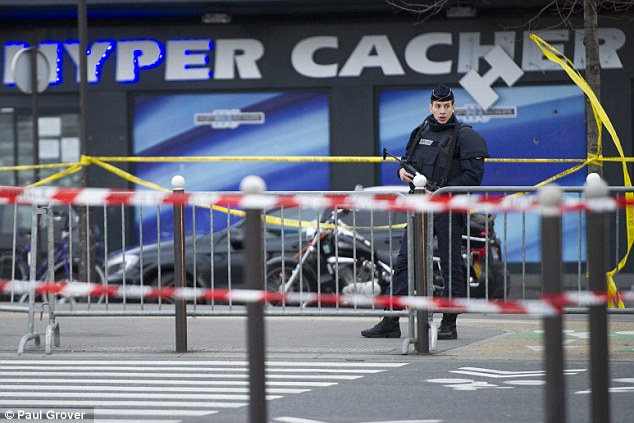 The kosher supermarket in Paris where four men and their hostage-taker died on Friday