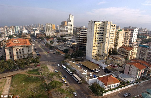 Blood and beer samples were being sent to the capital Maputo, above, to be tested, said provincial health director Carle Mosse.
