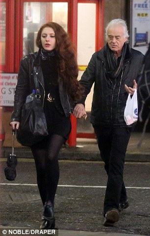 Jimmy Page and his girlfriend spotted in west London