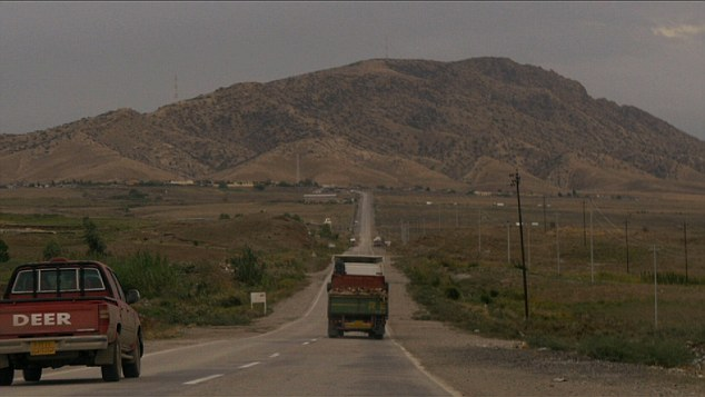 Chilling drive: This is the view towards the Dera Bwn refugee camp in Duhok, northern Iraq