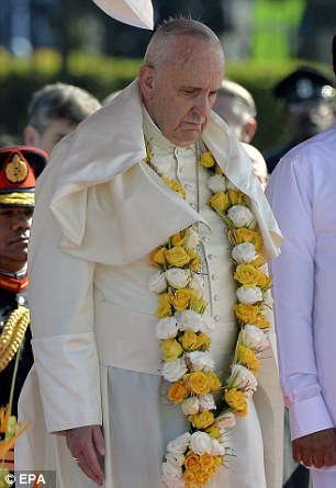Pope Francis was forced to cancel a planned meeting with Sri Lankan bishops - because he was 'exhausted' after a long journey exposed to the sun