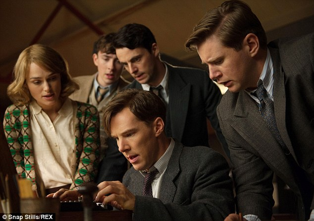 Rave reviews: Benedict has been lauded for his turn asfamous mathematician and WWII code-breaker Alan Turing in The Imitation Game