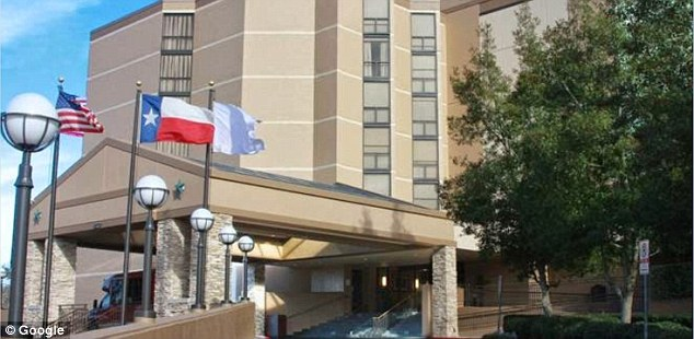 Investigators said Herrera told authorities the two went to the hotel room at the North Houston Hyatt (pictured) after attending the prom, drank alcohol and fell asleep
