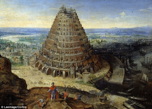 A linguist has claimed that less than 10 per cent of the world's 6,000 languages will endure in 2115 and they could besimplified versions of what we recognise today. However,Dr John McWhorter has dismissed the likelihood of a Tower of Babel (illustared) scenario where the whole world will speak a single language