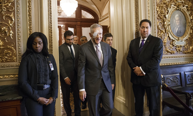 Reid Returns To Capitol After Exercise Injury Daily Mail