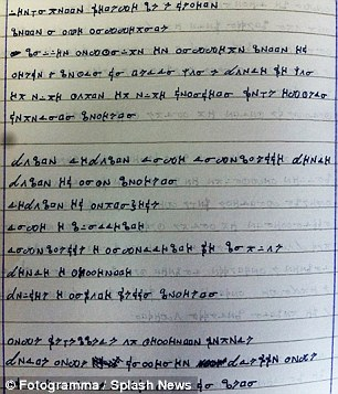 Another mysterious page from the encrypted notebook