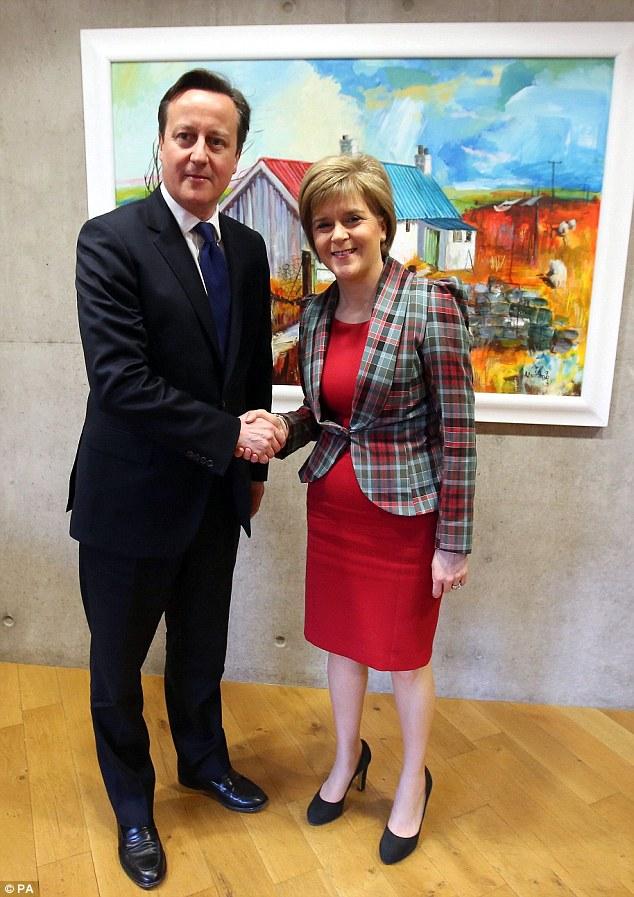 David Cameron today met First Minister Nicola Sturgeon to discus further devolution to Scotland