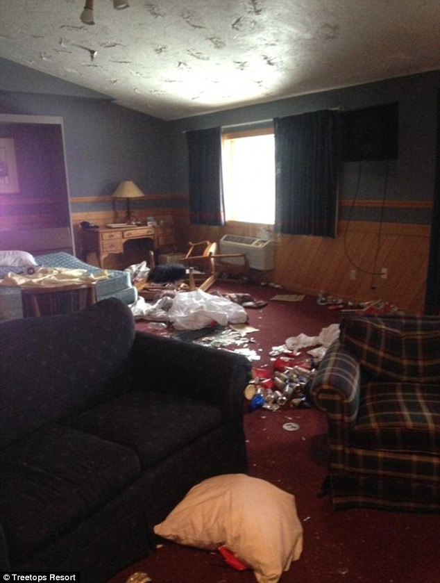 Trouble:The resort is considering its options, including pursuing criminal charges against the fraternity