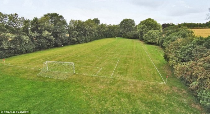 The house is ideal for anyone who is sporting mad as among its many features is a full size football field on the nine acres of land