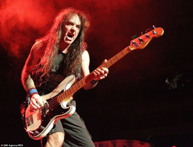 The property is being sold by Iron Maiden bass guitarist Steve Harris, pictured, who is a serious West Ham fan