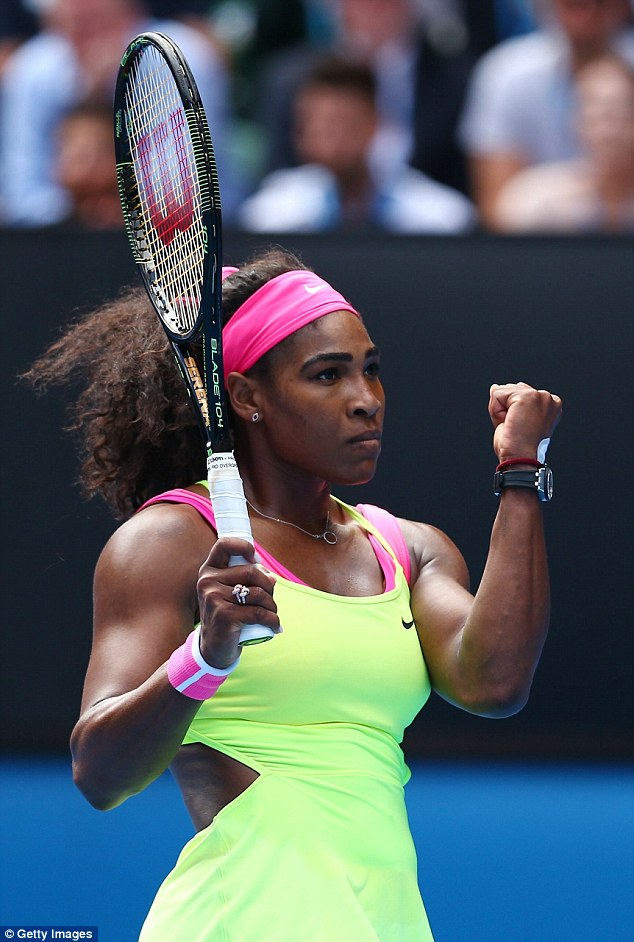 Serena Williams Does The Splits Before Defeating Garbine