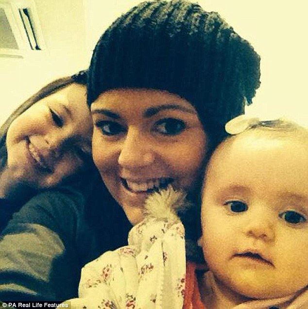 It was while pregnant with Darcie-Rae (right) that Mrs Davies she started bleeding - and the problem became progessively worse. Today she said:'The children are a comfort. I know I am lucky, I don't need telling that'