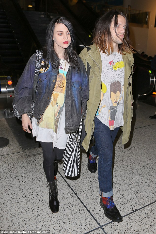 Courtney Loves Daughter Frances Bean At LAX With