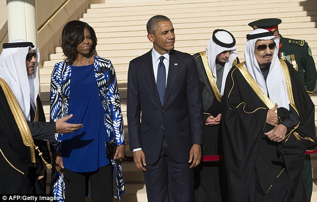 Not-so-happy in Saudi Arabia? First Lady Michelle Obama didn't look too thrilled to visit Saudi Arabia on Tuesday, a country with virtually no women's rights