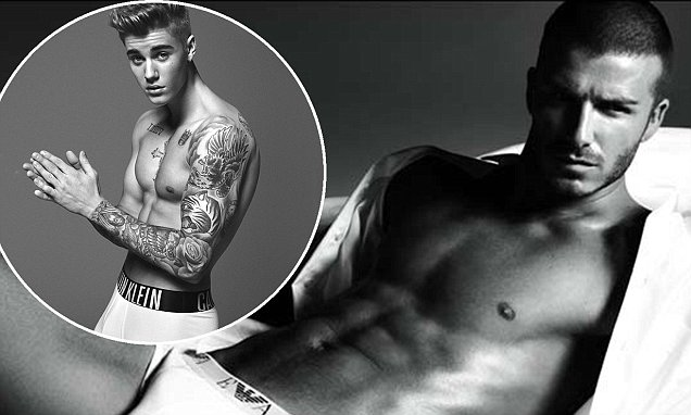 David Beckham Supports Justin Biebers Calvin Klein