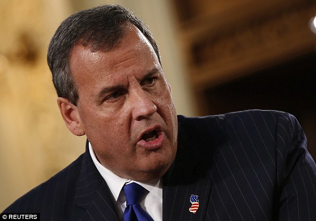 WINNER? New Jersey Gov. Chris Christie could benefit from Romney's disappearance in presidential polls as much of his support among self-described 'moderates' had swung to Romney – and Romney himself will dine with Christie on Friday night