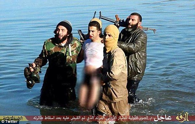 Jordan has threatened to fast-track the execution of a would-be suicide bomber the Islamic State is trying to free if the terror group kills al-Kaseasbeh, seen here after being captured in Syria in December
