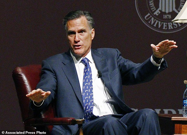 Former GOP presidential candidate Mitt Romney spoke at Mississippi State University on Thursday as he prepared to announce that he'll be sitting out the 2016 presidential race