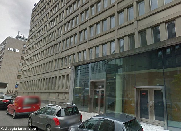 The Epicenter building n Stockholm (pictured)  where employees have been implanted with microchips