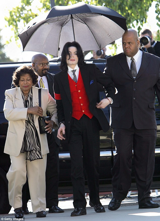 Arriving at court: In 2005 Michael Jackson face a 14 week trial accused of sexually abusing 13-year-old Gavin Arvizo