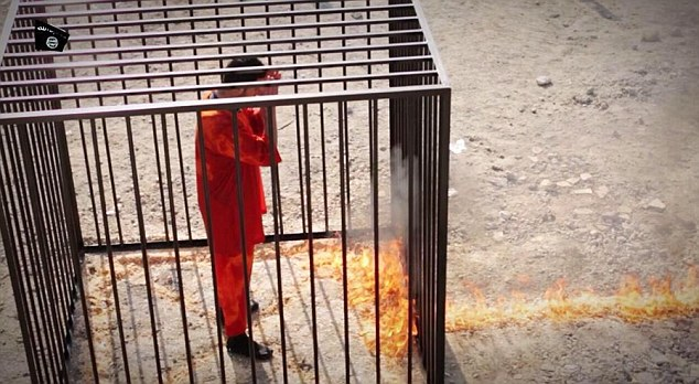 Depraved: The flames reach the cage holding the helpless pilot. It is later flattened by a bulldozer