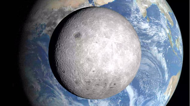 Image result for photo back side of moon showing earth