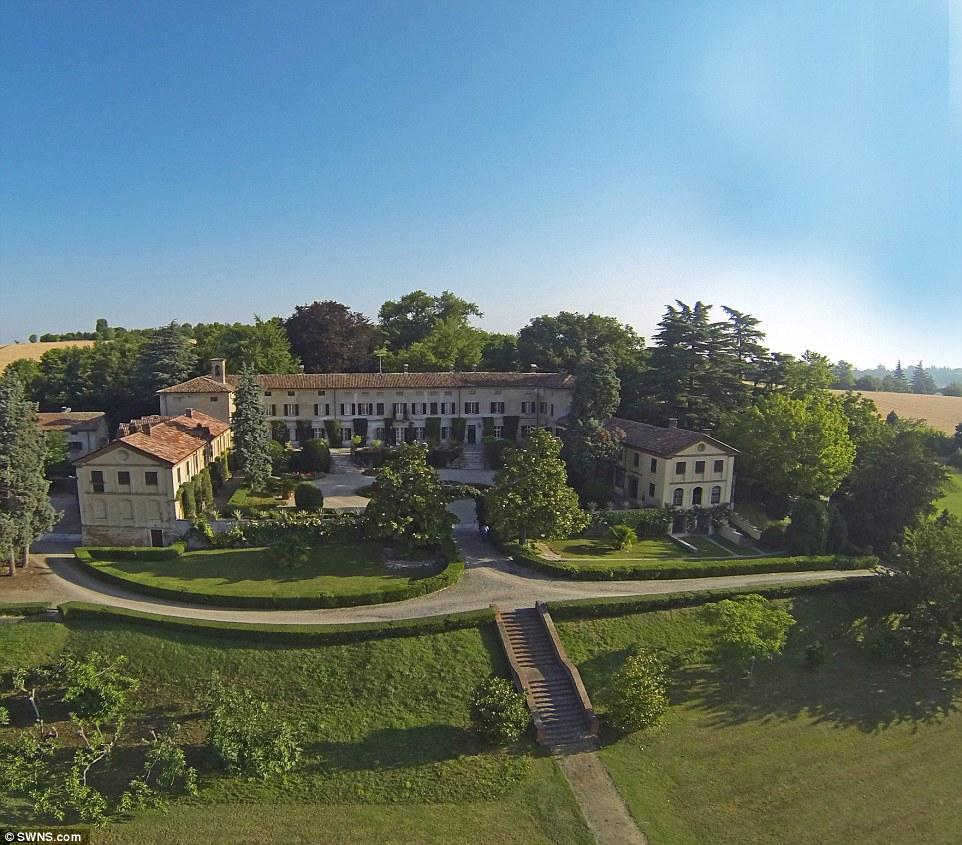 Beautiful property:Villa La Voglina in Piedmont, Italy, was built in the 18th Century by the world renowned Baroque architect Filippo Juvarra