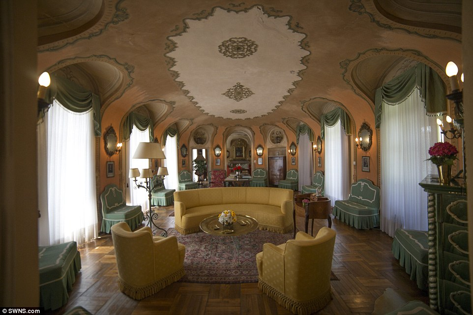 Praise: Villa La Voglina is said by estate agents to be 'a wonderful classic Italian Baroque villa, architecturally and historically significant'
