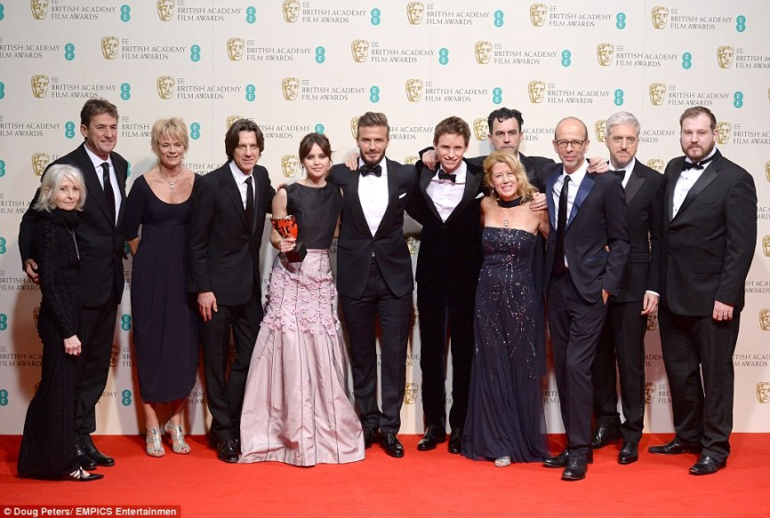 Best Picture: The Theory Of Everything took home the top film gong at the EE BAFTAs 2015 on Sunday night