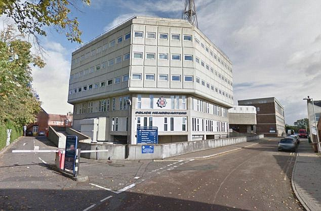 One police officer has been suspended while 11 have been put on restrictive duties after the force 'uncovered problems with the effectiveness' of the investigations. Pictured: Essex Police headquarters in Chelmsford