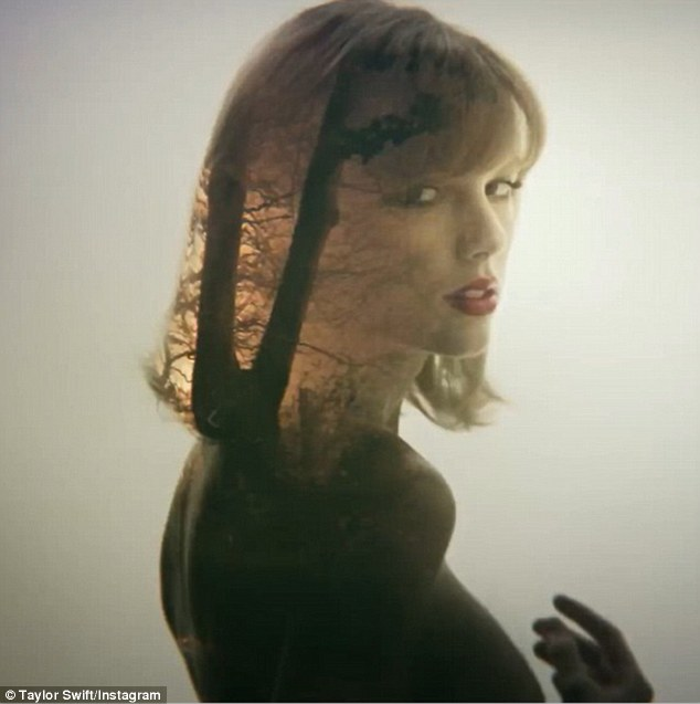 Mysterious: Taylor Swift unveiled two sneak peeks to her upcoming music video Style via Instagram on both Wednesday and Tuesday