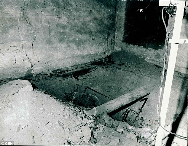 Thriller: The months-long game of cat-and-mouse with the Czech secret service ended with the treasure being pulled from under the floorboards in 1985