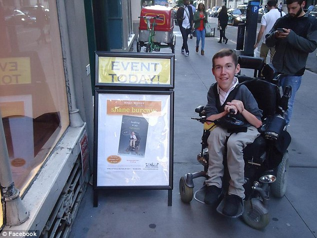 Book launch: Columnist Shane Burcaw suffers from Spinal Muscular Atrophy, a genetic disorder that causes the nerve cells responsible for controlling his body's muscle to deteriorate