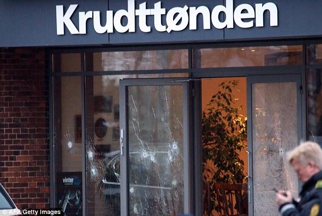 Ataque: Hubo disparos en un café en Copenhague esta tarde que fue anfitrión de un debate sobre la libertad de expresión