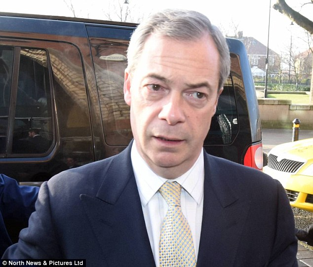 Panic: Ukip has hit back at Channel 4's new drama-documentary which shows British society on the brink of collapse, three months after Ukip (leader Nigel Farage pictured) wins the 2015 general election