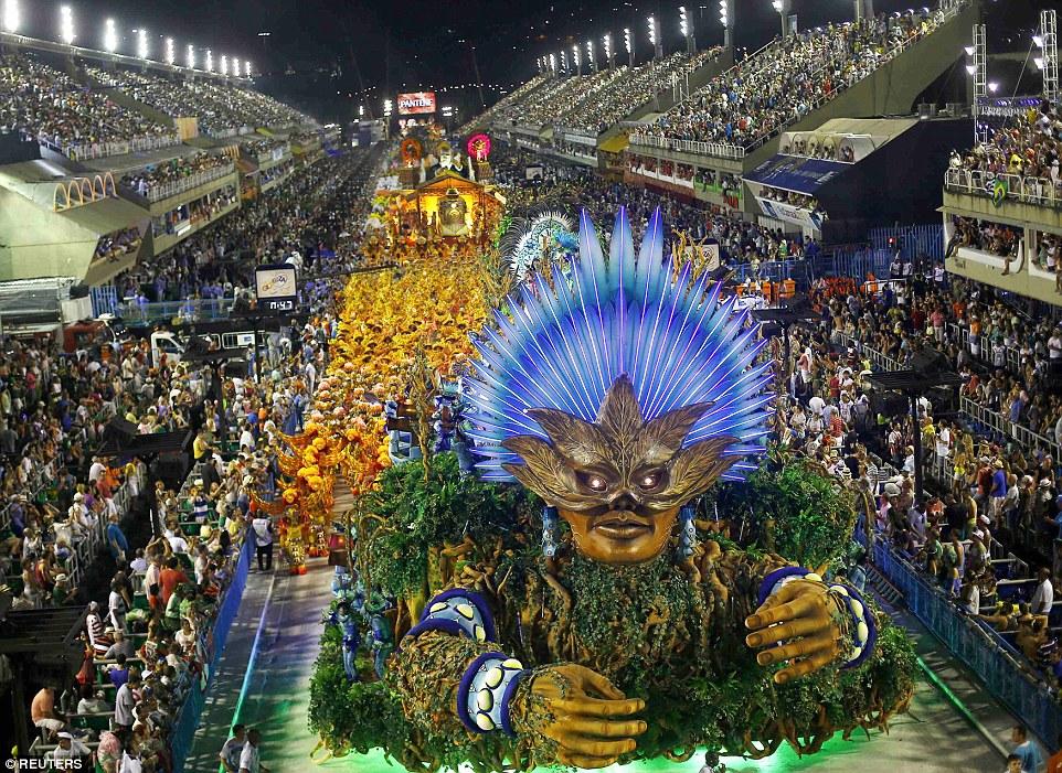 Desfile de la escuela de samba Vila Isabel