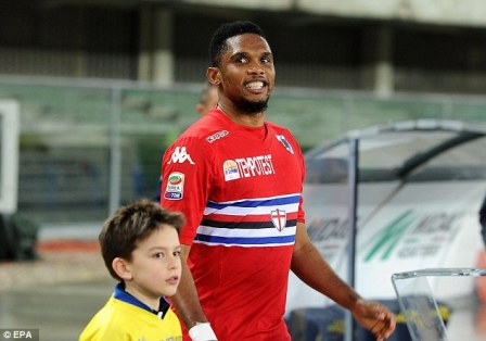 Samuel Eto'o signed for Sampdoria after he decided to leave Everton during the January transfer window