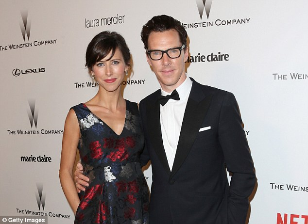 Theater Director Sophie Hunter and Benedict Cumberbatch attend the 2015 Weinstein Company and Netflix Golden Globes After Party