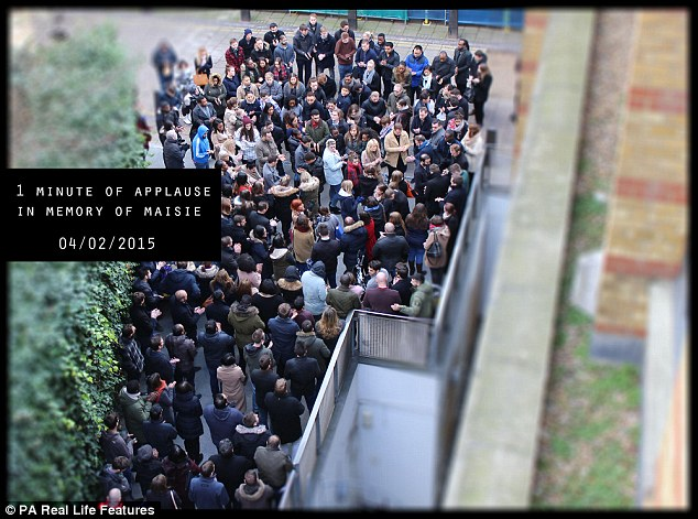Miss Durant's  colleagues from her job at recruitment company Reed organised a minute's applause in tribute to her (pictured)