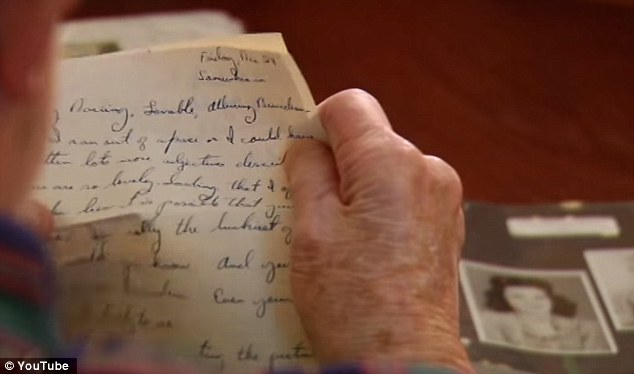 Original manuscript: Moore was filmed by ABC News as he read back the handwritten message he penned when he was 20 years old