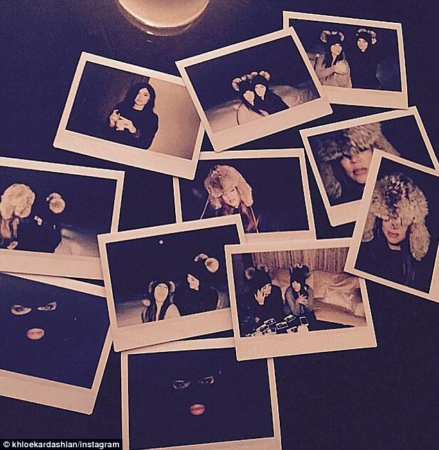 Khloe compartió esta foto de fotos de Kourtney, Kim y Kylie en sus vacaciones