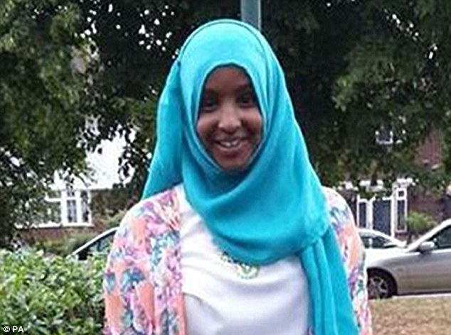 Path of extremism: Yusra Hussein (pictured), 16, was also reported to have arrived in Syria in October and is also thought to have been mentored by British jihadists