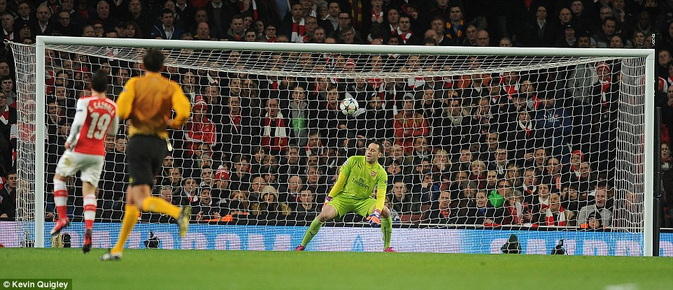 Ospina was caught off balance as Kondogbia's effort careers into the net to give Monaco the lead and a vital away goal