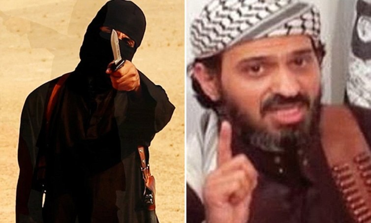 Bilal al-Berjawi (right) travelled freely between the UK and terror hubs in East Africa as he rose to prominence with al-Qaeda. He is believed to have radicalised Jihadi John (left) on his return visits to London